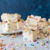 White Chocolate Funfetti Graham Cracker Fudge