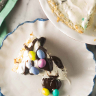 Macaroon Crust Ice Cream Pie