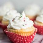 Vanilla Rum Cupcakes with Eggnog Buttercream