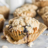 Brown Butter Blueberry Crumb Muffins