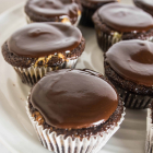 Peanut Butter Black Bottom Cupcakes
