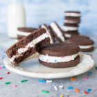 Cake Batter Chocolate Sandwich Cookies