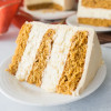 Pumpkin Cheesecake Layer Cake with Caramel Frosting