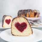 Hidden Heart Valentine's Day Cake