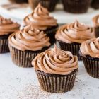 Nutella Cupcakes with Nutella Buttercream