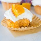 Orange Cupcakes with Fluffy Vanilla Buttercream