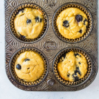 Coconut Flour Blueberry Muffins (Paleo!)
