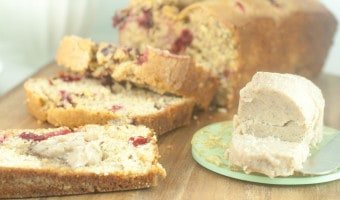 Cranberry-Orange Bread with Spiced Honey Butter