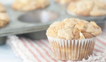 Banana Clove Muffins with Banana Chip Streusel
