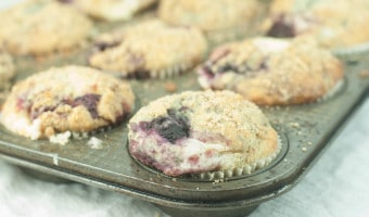 Blackberry Cream Cheese Muffins