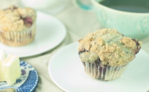 Blackberry Cream Cheese Muffins