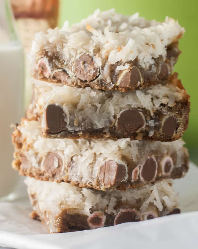 A rich and buttery blondie, packed full of Cadbury eggs and topped with a sweet and gooey macaroon topping.
