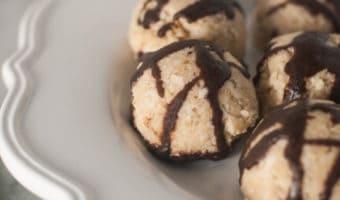 Raw Vanilla Bean Macaroons