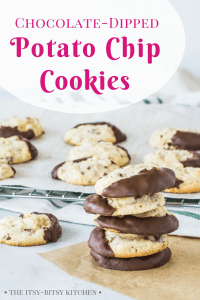 Pinterest image for potato chip cookies with text overlay