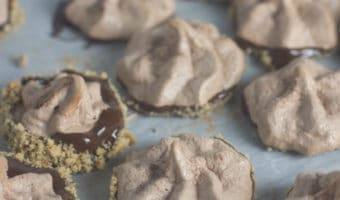 Chocolate Hazelnut Meringue Cookies