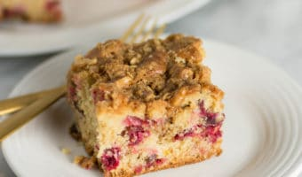 Cardamom Cranberry Coffee Cake