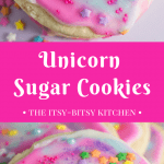pin image for unicorn sugar cookies