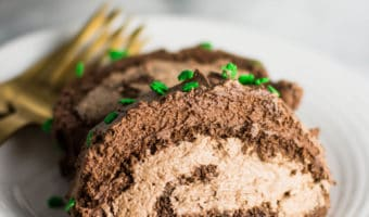 Irish Coffee Chocolate Cake Roll