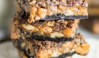 Coffee-Toffee Caramel Cookie Bars