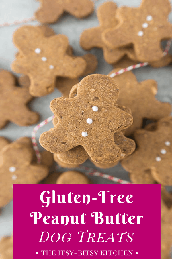 Homemade Gluten Free Peanut Butter Dog Treats The Itsy Bitsy Kitchen