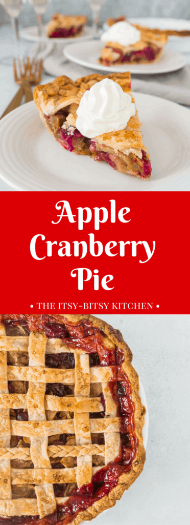 pinterest image for apple cranberry crust with text overlay