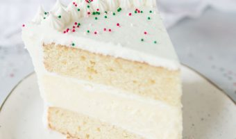 White Chocolate Eggnog Cheesecake Layer Cake