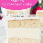 pin image for white chocolate eggnog cake