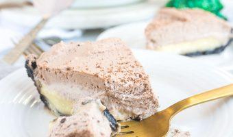 Chocolate Eggnog Cream Pie