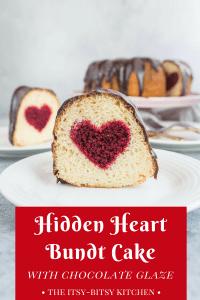 Pinterest image for hidden heart bundt cake with text overlay