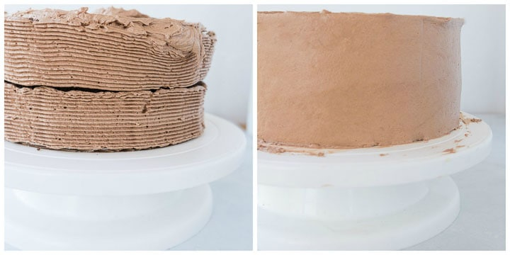 how to frost a death by chocolate layer cake step by step