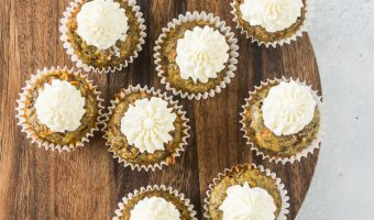 Mini Carrot Cake Cupcakes for Dogs (Pupcakes)