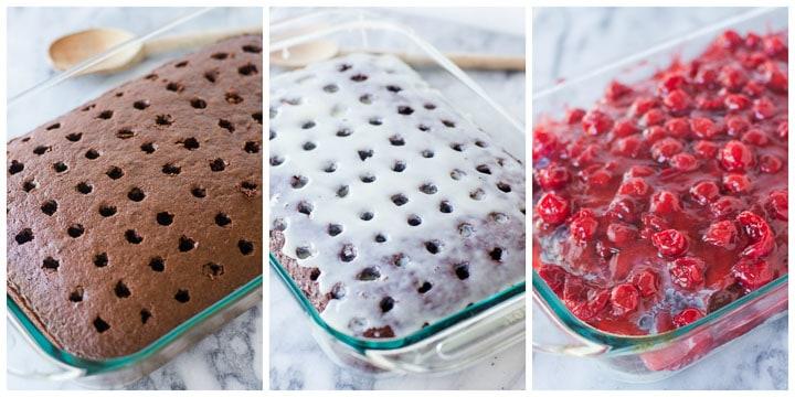 easy chocolate cherry cake step by step