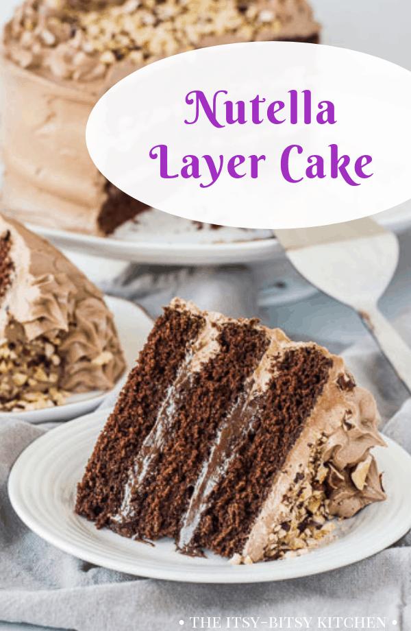 Awe Inspiring Chocolate Nutella Cake The Itsy Bitsy Kitchen Funny Birthday Cards Online Benoljebrpdamsfinfo