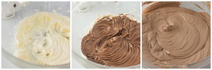 how to make Nutella buttercream step by step