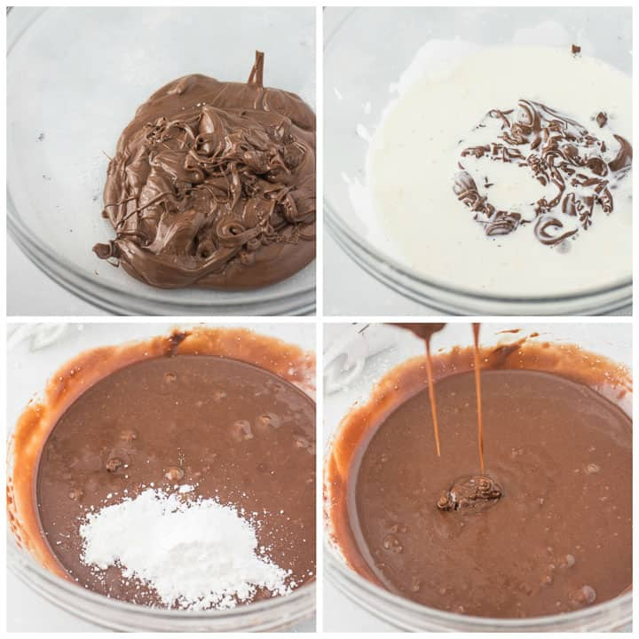 how to make Nutella ganache step by step