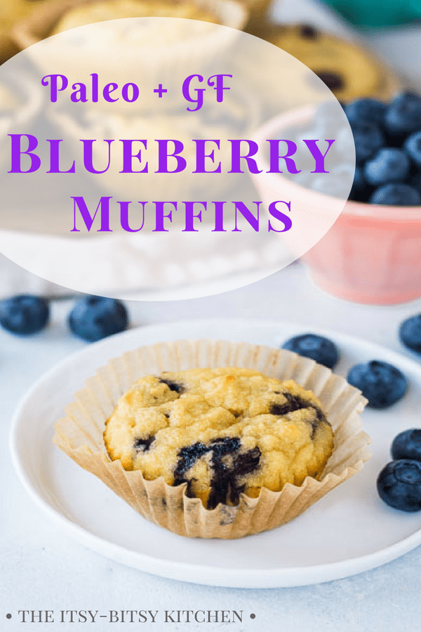 Coconut flour blueberry muffins are gluten-free and paleo-friendly.  And they're super easy to make! They're a delicious breakfast treat. #paleo #glutenfree #blueberrymuffins #breakfast