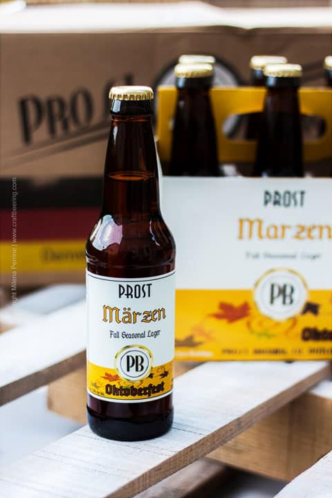 photo of a bottle Prost Brewing beer