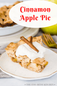 Pinterest image for cinnamon apple pie