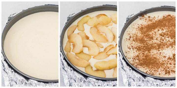 how to assemble apple cheesecake step by step