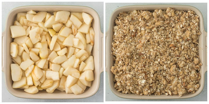 how to assemble pear crisp step by step