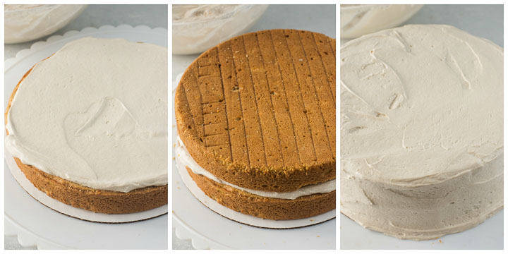 how to assemble sweet potato cake step by step
