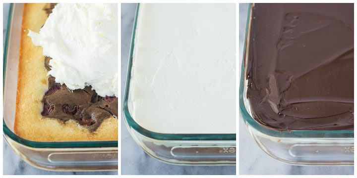 how to assemble Danube waves cake (donauwellen kuchen)