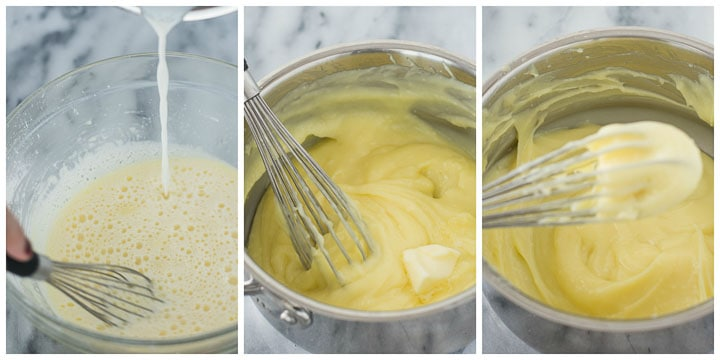 how to make German buttercream steps 4 through 6