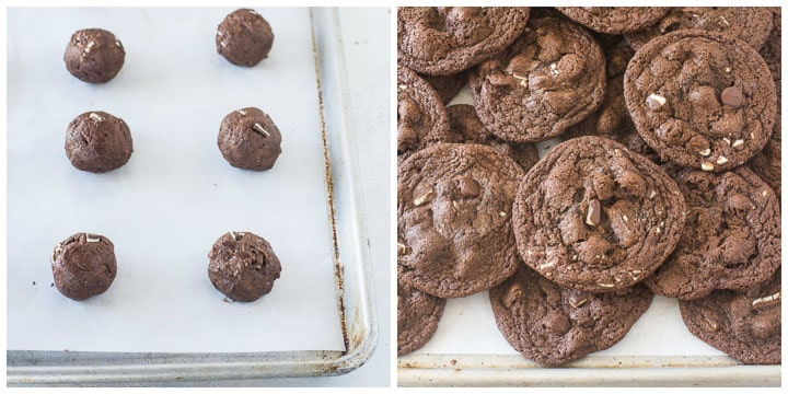 how to make chocolate mint cookies steps 7 and 8