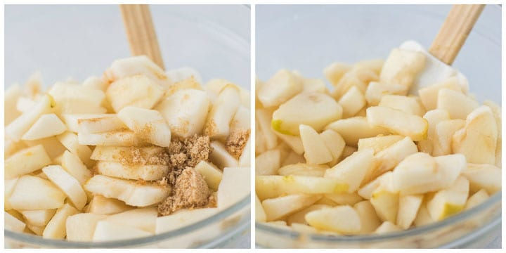 how to make the filling for pear crisp step by step