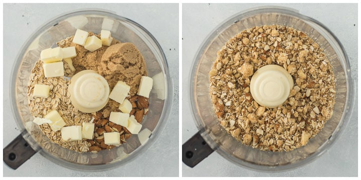 how to make the topping for pear crisp step by step