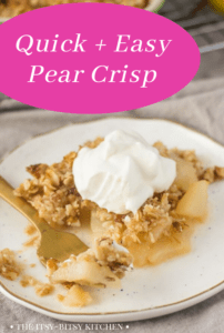 pin image for pear crisp