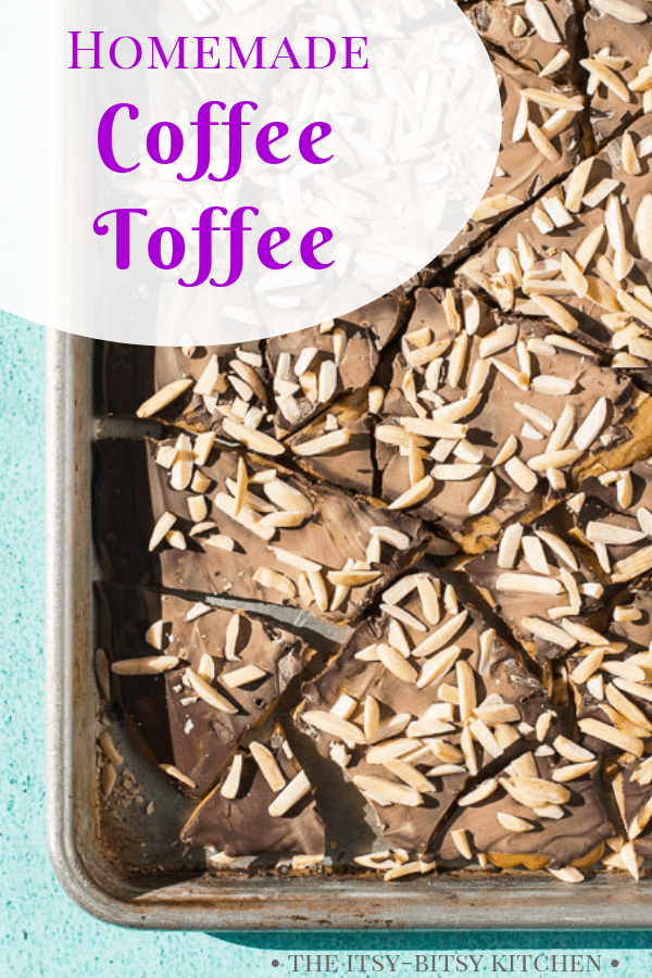 Pinterest image for coffee toffee with text overlay