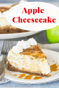 pin image for apple cheesecake