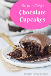pin image for one bowl chocolate cupcakes